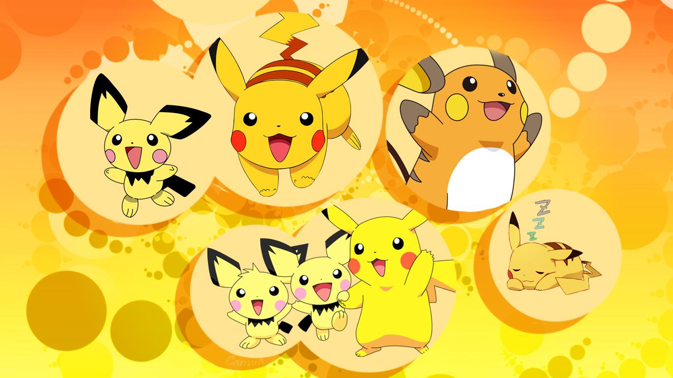 Présentation de Camua Wallpaper-Pokemon-le-trio-electrique